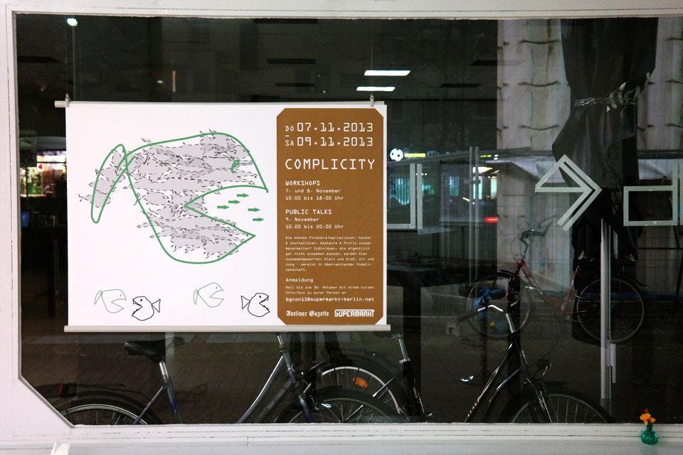plakat supermarkt - veranstaltungsort